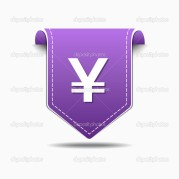 Japanese Yen Sign Vector Icon Design